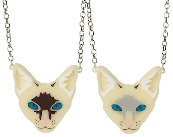 Siamese Cat necklace - laser cut acrylic