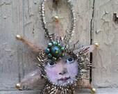 Shabby Baby Moon Face Ornament