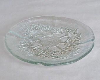 Set of 4 Lasisepat Mantsala Glass Plates Dessert or Side Size