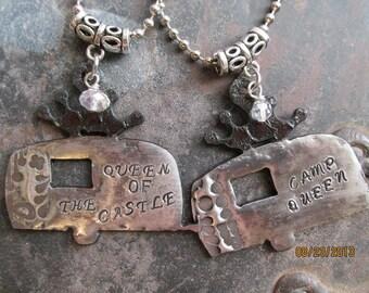 Vintage trailer necklace