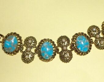 Vintage aqua CONFETTI bracelet