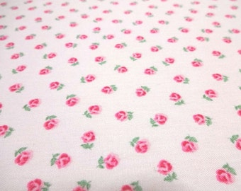 SALE Japanese Fabric D's SELECTION Rose Flower Light Pink  Fat Quarter
