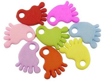 Baby Feet Pendants Feet Pendants Baby Shower Favors Baby Pendants Baby Charms Feet Charms Bulk Pendants Wholesale Pendants-50pcs
