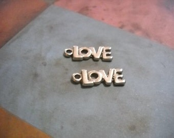Word Charms Love Charms Silver Charms Love Word Charms Bulk Charms Wholesale Charms-100pcs