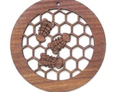 Honey Bee Ornament  - Timber Green Woods Circle of Life Collection