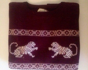 1970s Crouching Tigers Sweater
