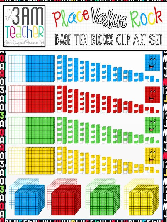 Place Value Rock: Base Ten Blocks u0026 More Clip Art Collection