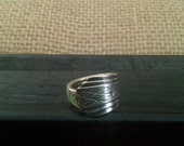 Spoon Ring Silver Plate Jewelry Antique Silverware Size 7