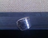 Spoon Ring Silver Plate Jewelry Vintage Flatware Size 7