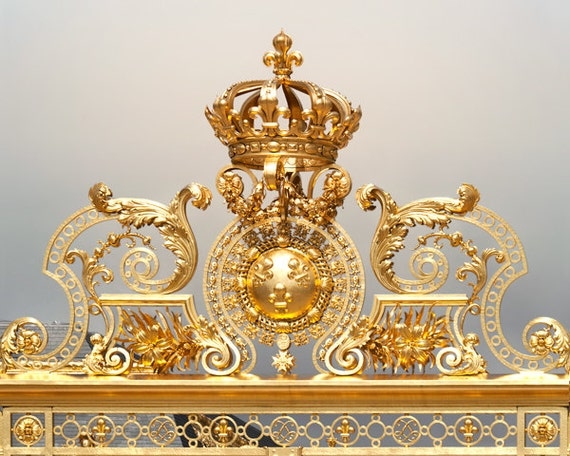 crown home decor versailles photography art gold large wall