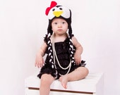 Baby penguin hat, baby christmas hat Pepper Penguin Earflap, Baby hat, Baby girl photography prop