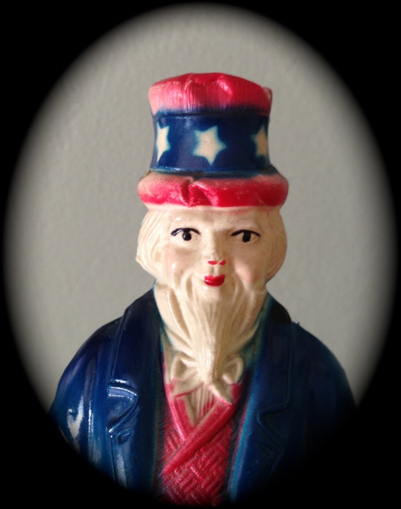 Antique Rare Uncle Sam Patriotic Celluloid Toy 4th Of July