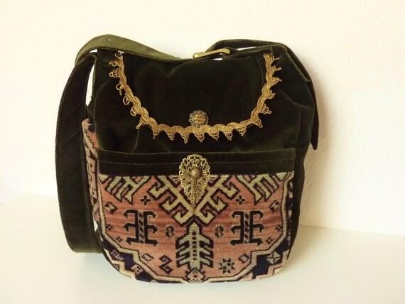 Ethno Kelim Design Teppich Orient Tasche Ceasg