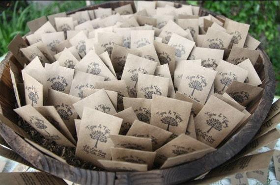 100 Customized Eco-Friendly Let Love Grow Wedding Favor Envelopes, Seed Favor Envelopes, Wedding Gifts, Wedding Reception