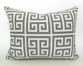 """60% CLEARANCE SALE 16""""x12""""  Lumbar Pillow Covers Decorative Pillows Grey Pillow Premier Prints Towers Grey and White"""