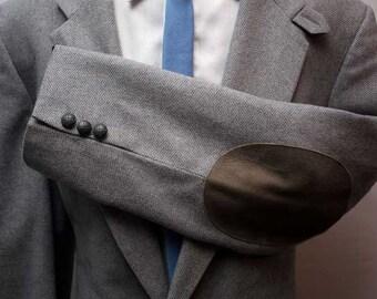 Vintage Men's Grey Professor Jacket Wool Retro Blazer Size 40