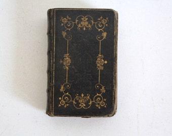 Antique Book Nouveau Paroissien Romain 1846 Hardcover Religious Book Vintage French