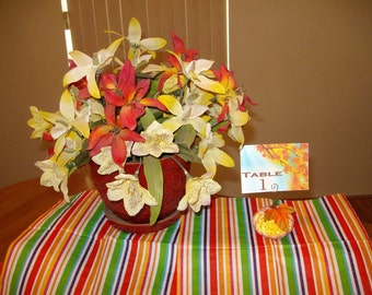 FALL...Pumpkin...Table Numbers...Place Cards...Barn Wedding...Woodland...Rustic...Set of Six