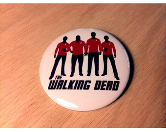 The Walking Red Shirts Button