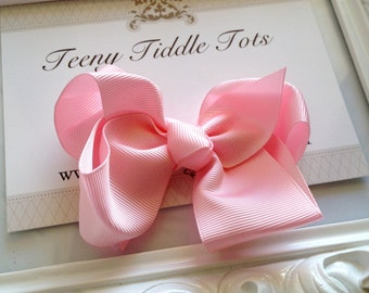 Light Pink Boutique Hairbow - Boutique Hairbow