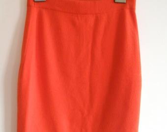 SALE ~ take 20% off~ CHANEL Orange Cashmere Skirt