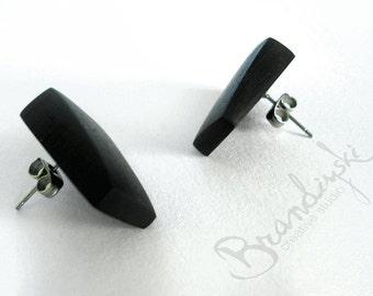 Wooden Ebony Earrings