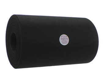 "8"" X 20 yards Black Cut-Away Embroidery Stabilizer Backing Medium Heavy Weight"