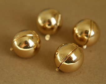 1 pc. Gold Ball Lockets - LOC-022