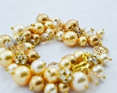 Gold Pearl Bracelet with ...
