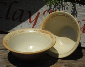 On Sale, Salt Fired Pottery Bowl, Stoneware Bowl