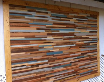 Oversized Reclaimed Wood Headboardv