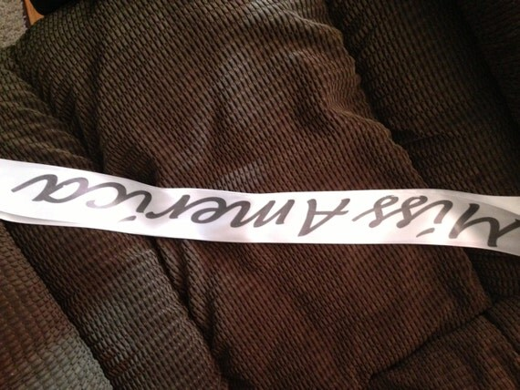 Halloween Props, Halloween Costume, Halloween Sash, Prom King, Prom Queen, Miss America, Beauty Queen, Honey Boo Boo, Any Color any wording