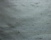 59 X 48 Gray Green Silk Fabric Remnant