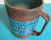 RESERVED FOR ADAM - Midcentury Bitossi ceramic vase or mug - by Aldo Londi