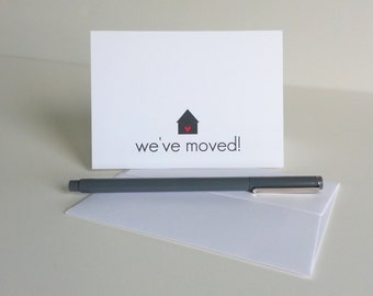 Change of Address Cards for New Homeowners New Address Announcement Stationery Realtor Housewarming Gift We've Moved Notes Home Sweet Home