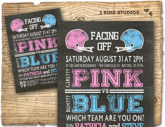 Football gender reveal invitation football baby shower invite