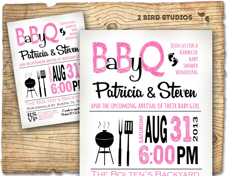 bbq baby shower invitation baby q baby shower invite coed