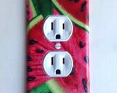 Watermelon Outlet Plate, decor