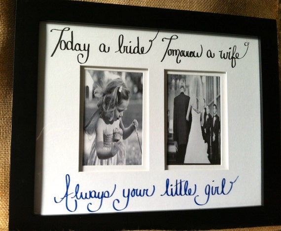 Wedding Gift For Your Dad : wedding gift for mom dad brown frame with custom quote