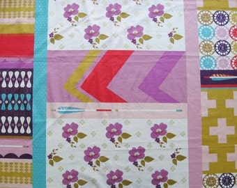 Melody Miller Ruby Star Polka Dot  Patchwork Color C -  One Yard Panel