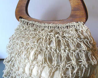 Vintage Made in Italy Extra Large Macrame Tote Bag