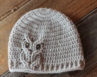 Cable Owl Hat