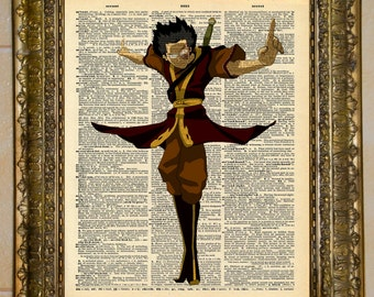 Avatar: The Last Airbender Zuko Dictionary Art