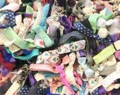 SUPER DEAL Grab Bag: 100 Handmade Hair Ties, Random Colors, Elastic--Good Value