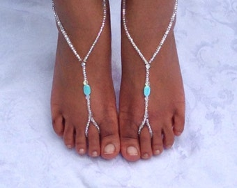 Barefoot sandals Beach Sandals Bridal Jewelry Beach Wedding Foot jewelry Anklet