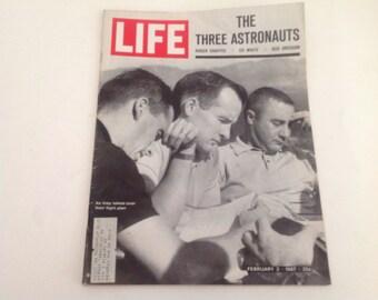 RARE Life Magazine Apollo 1 Grissom White Chaffee - Feb 3 1967