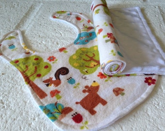 Burp Cloth and Bib Set - Gender Neutral