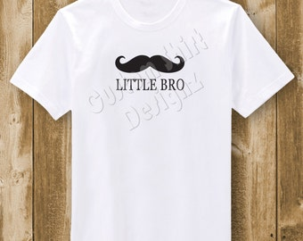 Little Bro Mustache T-Shirt