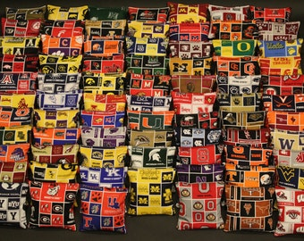 CORNHOLE  BAGS Pick your Team 8 ACA Regulation Corn Hole Bean Bags Top Quality Handmade