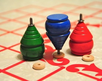 """Classic Trompo Wooden wood Spinning Top Size- about 3"""""""